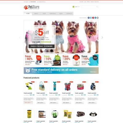 Tema WooCommerce #47513 para Sitio de Tienda de Mascotas
