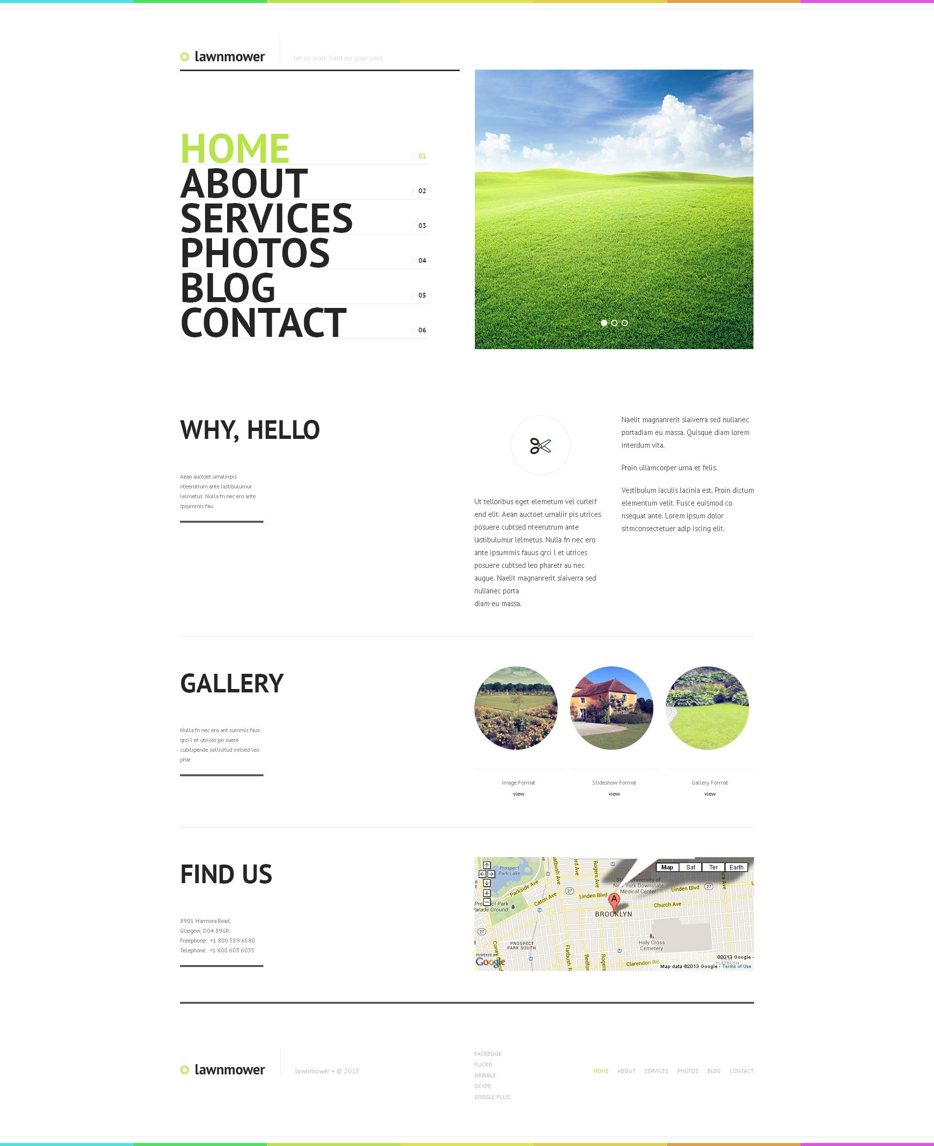 Tema WordPress Flexível para Sites de Design de Paisagem №47531