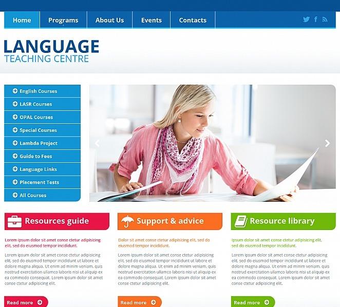 Template Moto CMS HTML  #47563 per Un Sito di Scuola Linguistica New Screenshots BIG