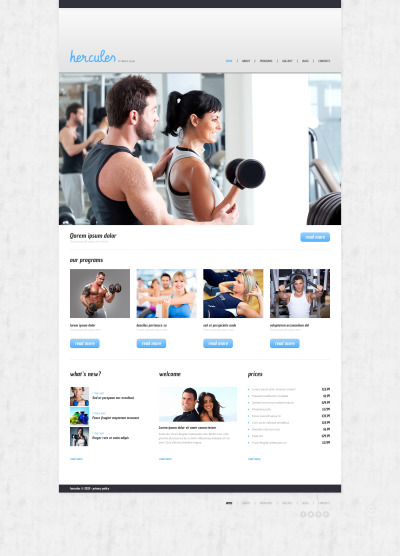 Thème WordPress adaptatif  pour site de club de fitness #47540