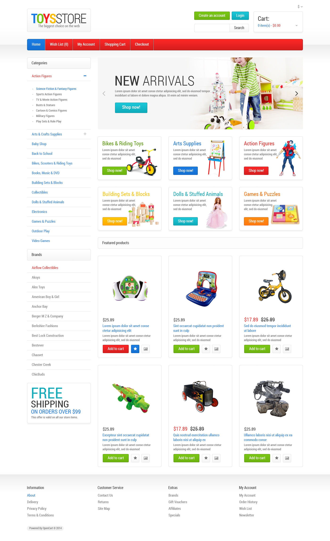 toys store opencart template 47556 original Top Result 60 Inspirational Opencart Bookstore Template Gallery 2017 Phe2
