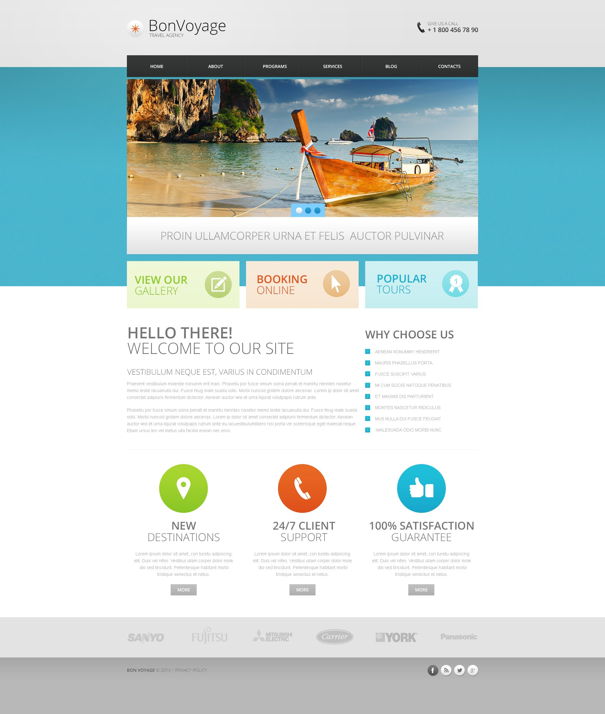 Travel Drupal Themes – Travel Policy Template