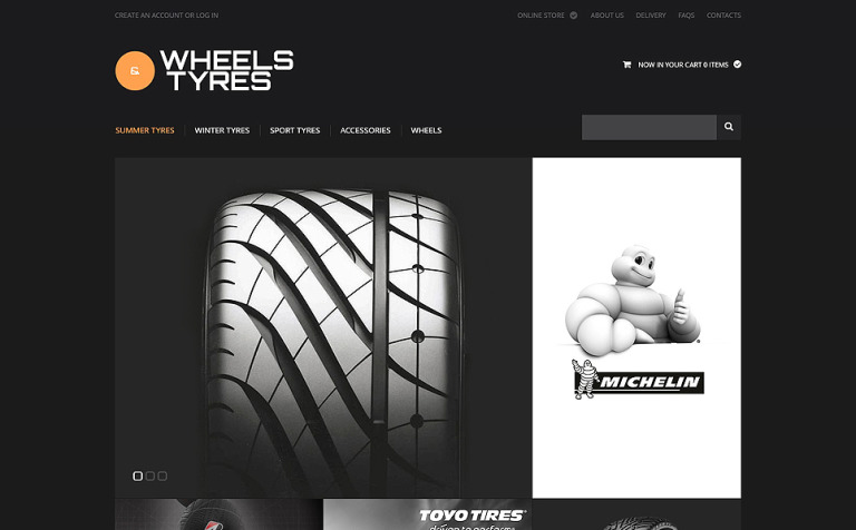 Wheels and Tyres VirtueMart Template #47517