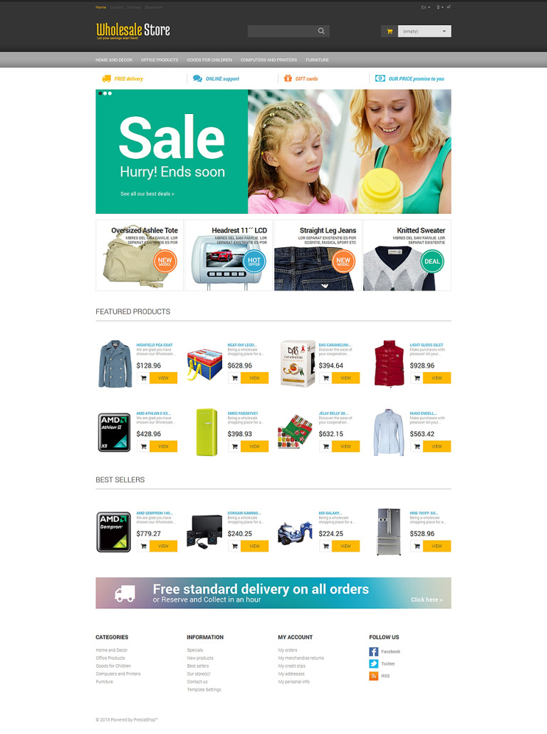 Wholesale Buying PrestaShop Theme New Screenshots BIG