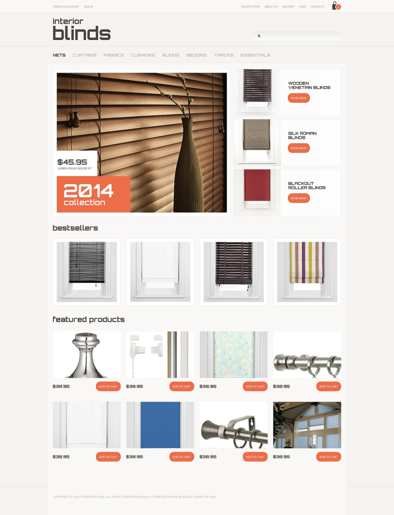 Window Decor VirtueMart Template New Screenshots BIG