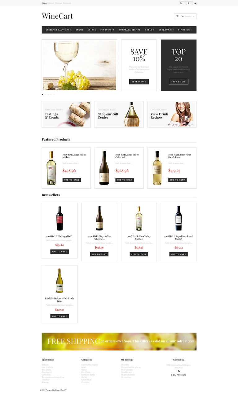 Wine Love PrestaShop Theme New Screenshots BIG