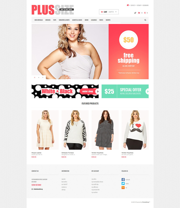 Women Clothes Store PrestaShop Theme New Screenshots BIG