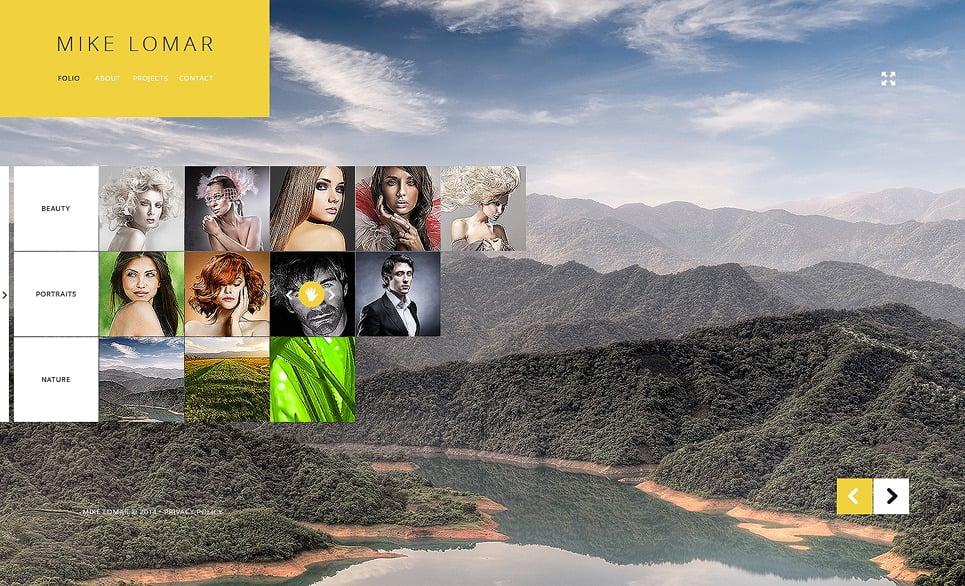 Bootstrap szablon strony www #47600 na temat: portfolio fotograficzne New Screenshots BIG