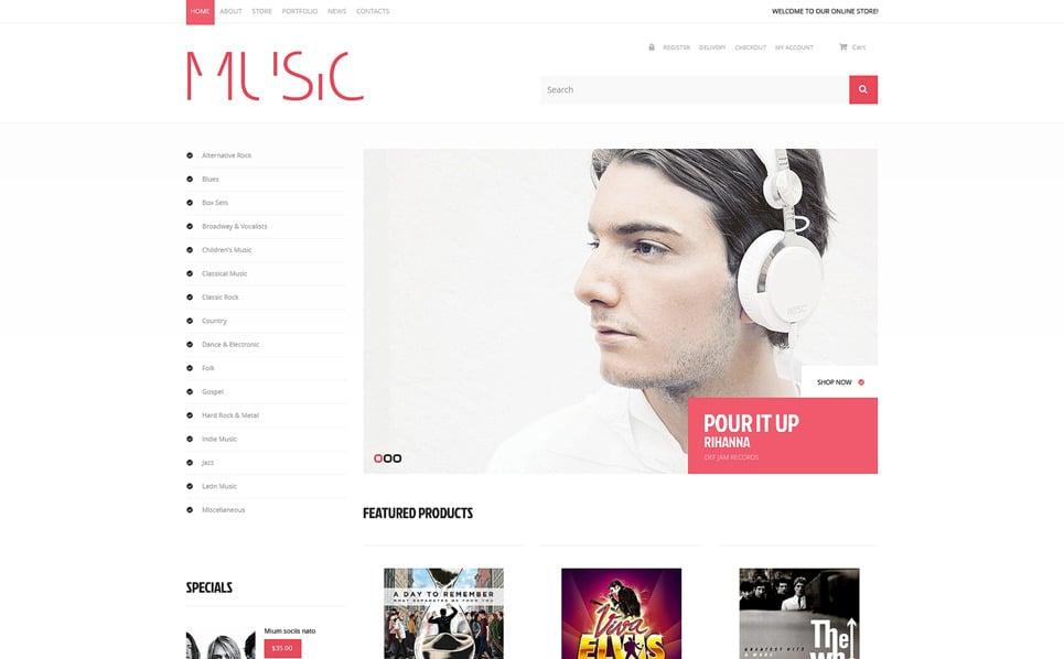 Responsive WooCommercie Thema over Muziek New Screenshots BIG
