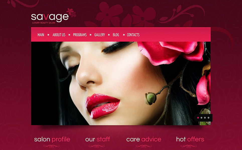 Drupal шаблон на тему салон краси New Screenshots BIG