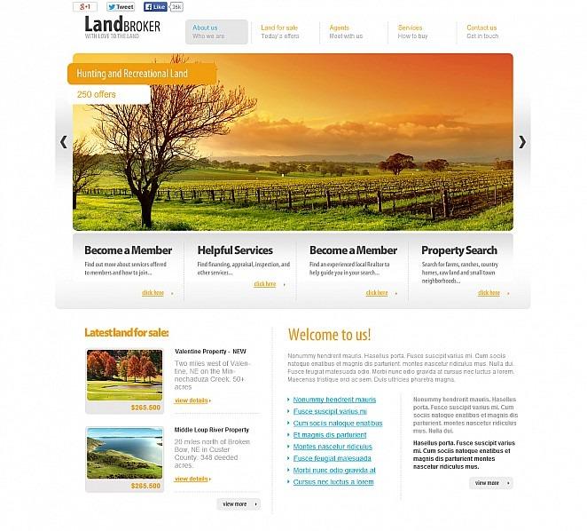 Szablon Flash CMS #47610 na temat: sprzedawca ziemi New Screenshots BIG
