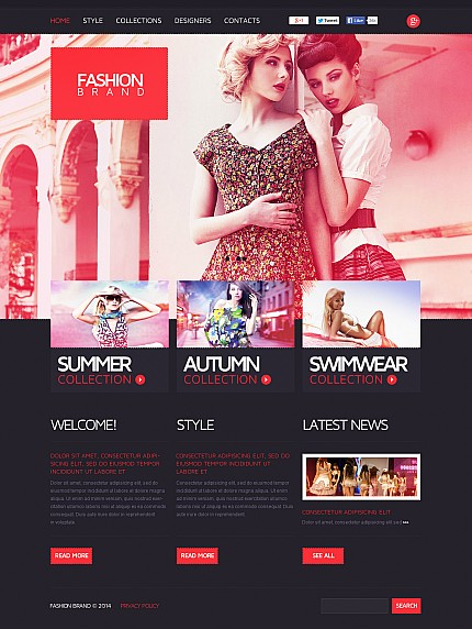 ADOBE Photoshop Template 47612 Home Page Screenshot