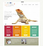 Animals & Pets Flash CMS  Template 47613