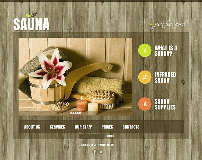 Template Flash CMS  #47614 per Un Sito di Sauna New Screenshots BIG