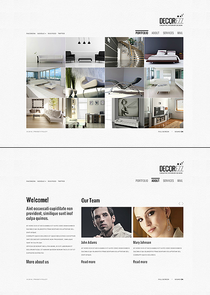 ADOBE Photoshop Template 47615 Home Page Screenshot