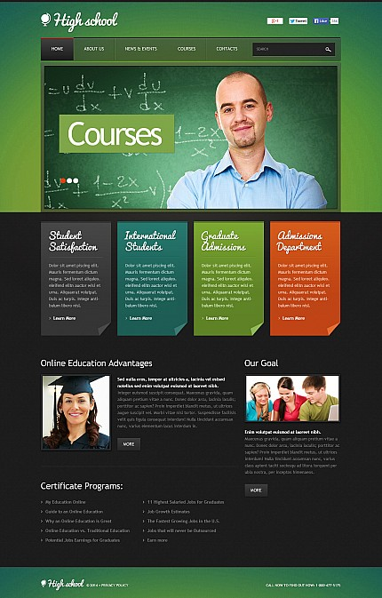 ADOBE Photoshop Template 47620 Home Page Screenshot