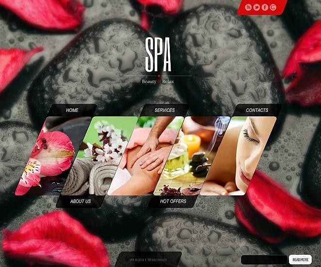 Szablon Flash CMS #47624 na temat: salon piękności New Screenshots BIG