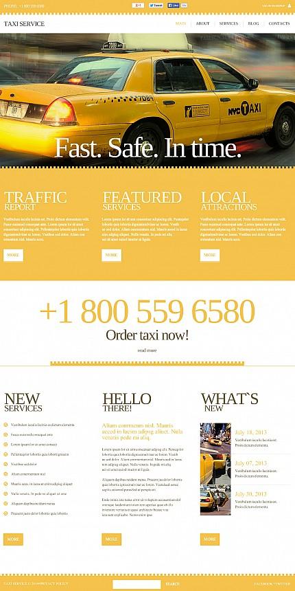 ADOBE Photoshop Template 47625 Home Page Screenshot