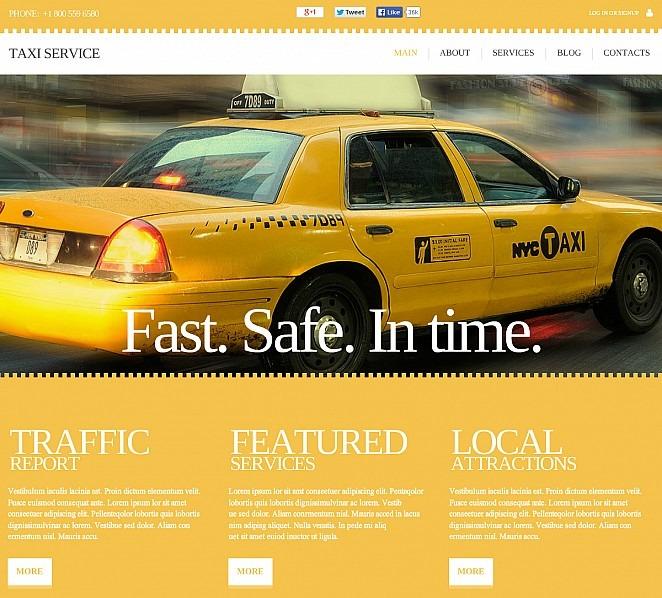 Modèle Flash CMS  pour site de taxi New Screenshots BIG