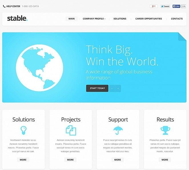 Premium Flash CMS Template over Marketingbureau New Screenshots BIG