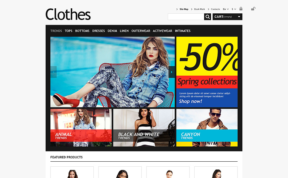 Responsives PrestaShop Theme für Bekleidung  New Screenshots BIG