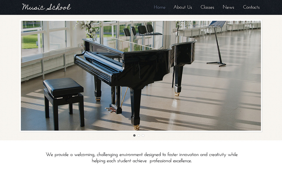 Responsive Müzik Okulu  Web Sitesi Şablonu New Screenshots BIG