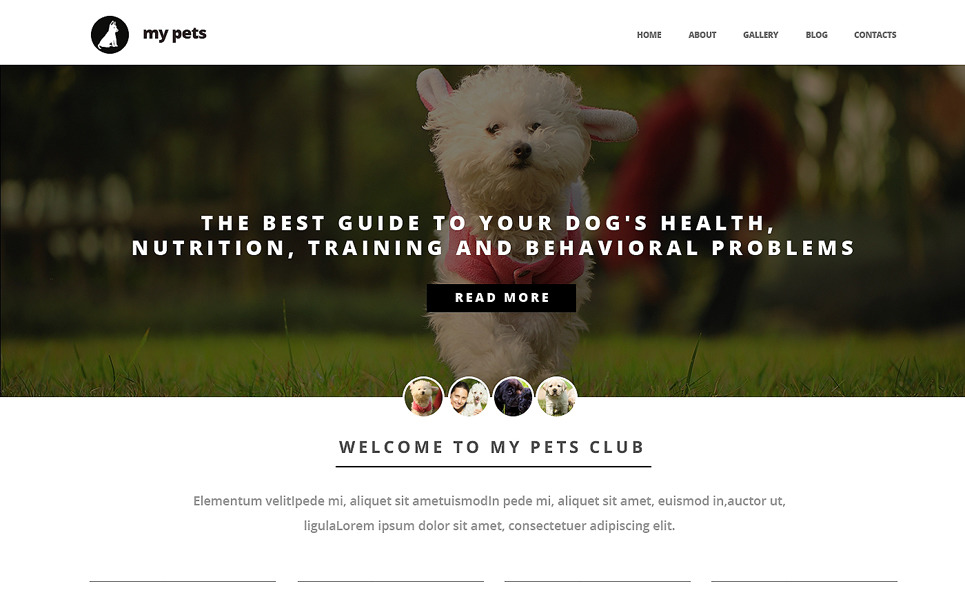 Responsive Köpek  Web Sitesi Şablonu New Screenshots BIG