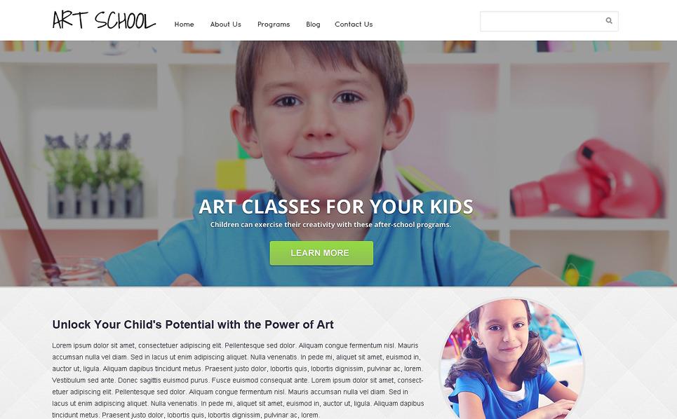 Responsive Sanat Okulu  Web Sitesi Şablonu New Screenshots BIG