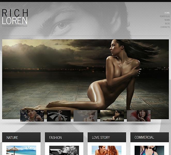 Tema Moto CMS HTML  #47655 per Un Sito di Fotografi Portfolio New Screenshots BIG
