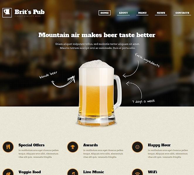 Szablon Moto CMS HTML #47657 na temat: pub New Screenshots BIG