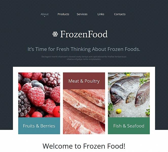 Template Moto CMS HTML para Sites de Alimentos congelados №47660 New Screenshots BIG