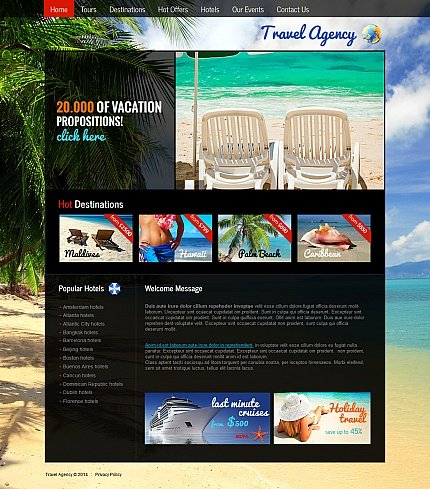ADOBE Photoshop Template 47662 Home Page Screenshot