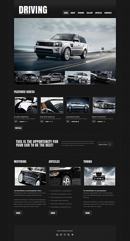ADOBE Photoshop Template 47664 Home Page Screenshot