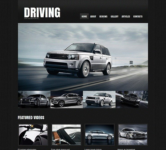 Moto CMS HTML Vorlage für Automobilclub  New Screenshots BIG