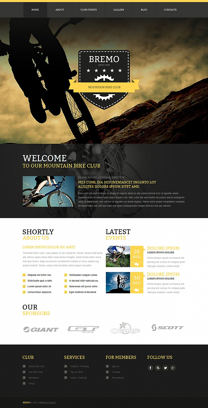Mountain Bike Club Template with Photographic Header - image