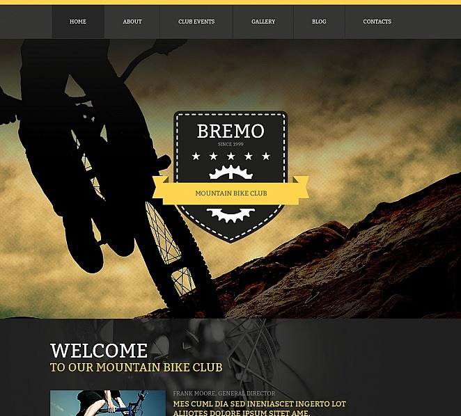 Prémium BMX Moto CMS HTML sablon New Screenshots BIG