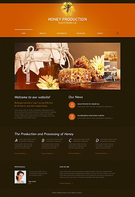 ADOBE Photoshop Template 47666 Home Page Screenshot