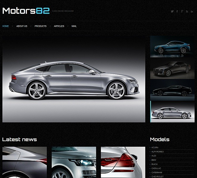 Modello Moto CMS HTML  #47669 per Un Sito di Club Automobilistico New Screenshots BIG