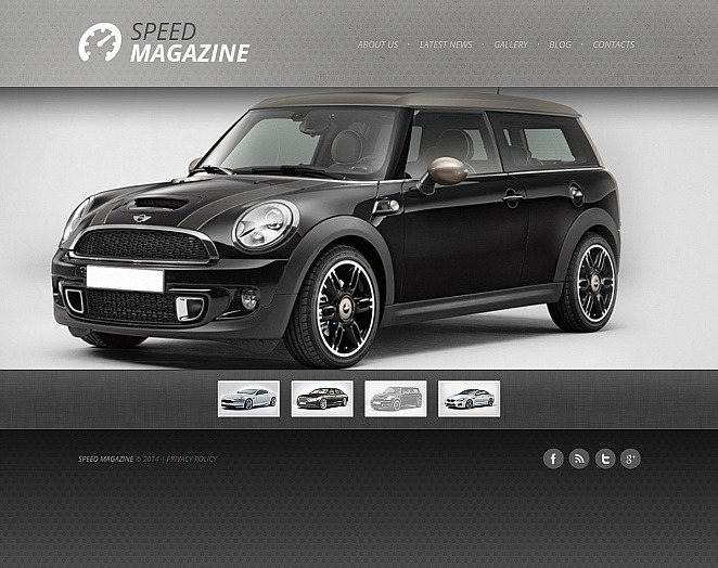 Modèle Moto CMS HTML  pour clubs automobiles New Screenshots BIG