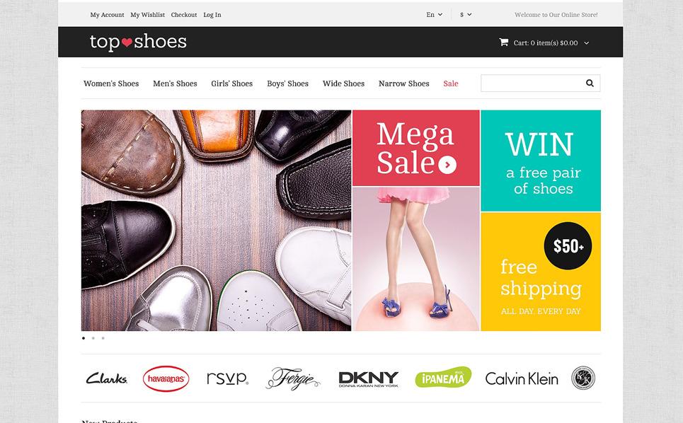Responzivní Magento motiv na téma Obchod s obuví New Screenshots BIG