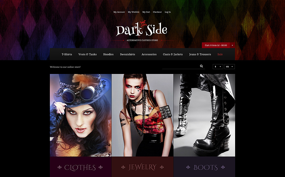 Tema Magento Responsive para Sitio de Ropa New Screenshots BIG