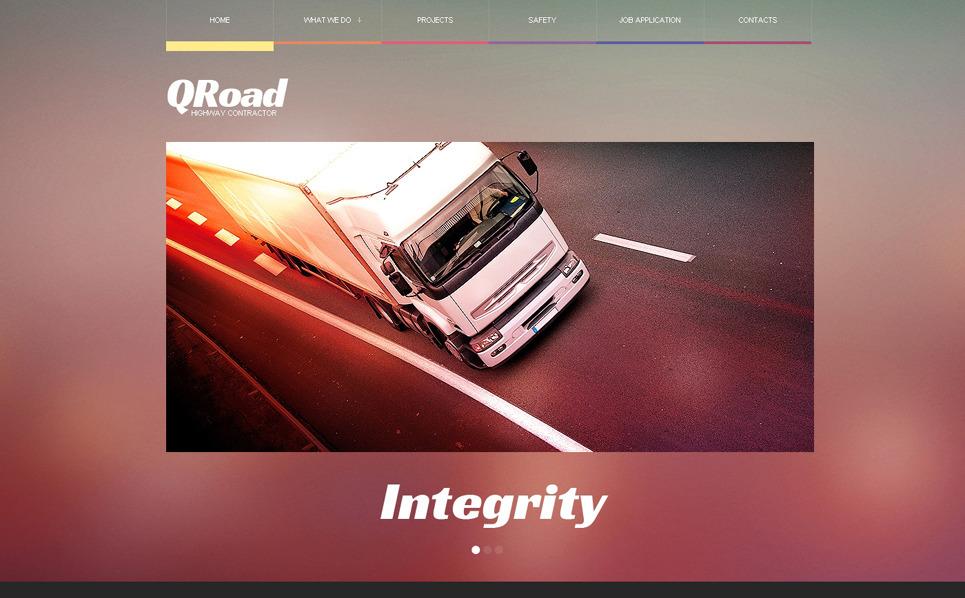 Responsive Website template over Vrachtvervoer  New Screenshots BIG