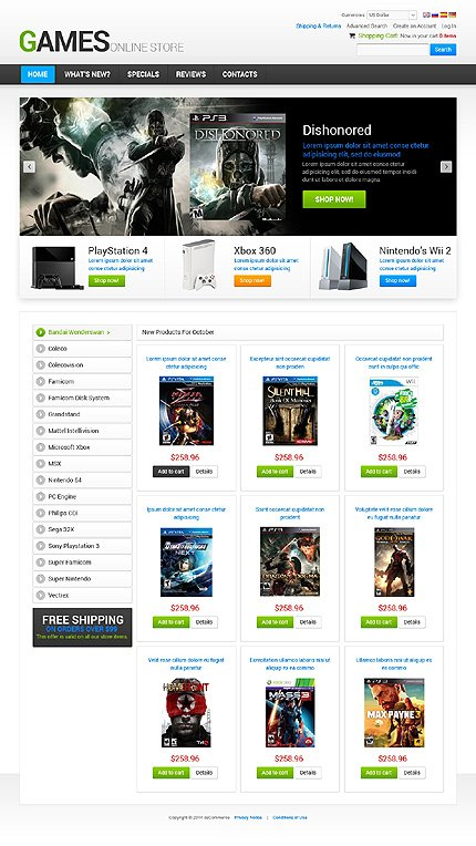 osCommerce Template 47687 Main Page Screenshot