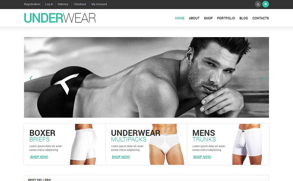 Responsives WooCommerce Theme für Herrenunterwäsche  New Screenshots BIG