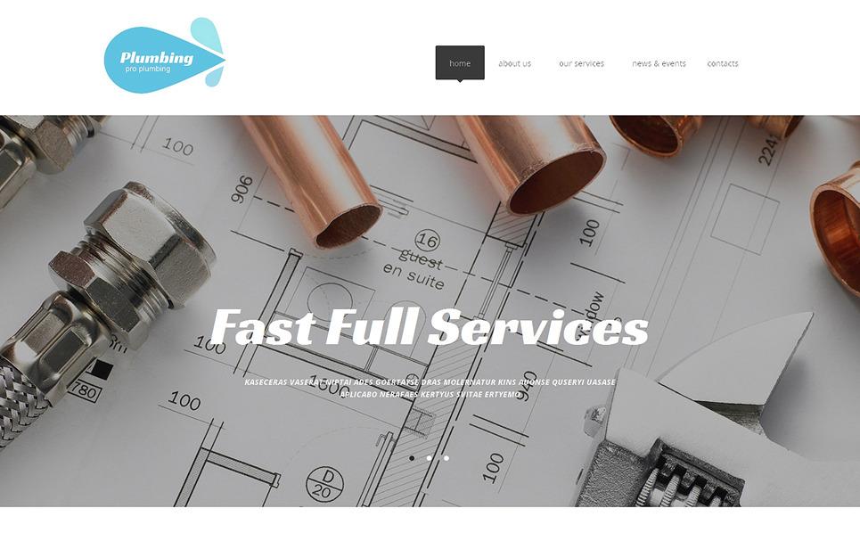 Адаптивний Шаблон сайту на тему сантехніка New Screenshots BIG