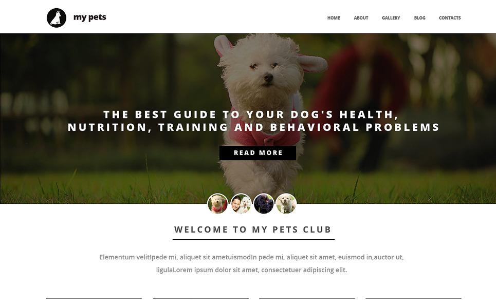 Адаптивный HTML шаблон №47641 на тему собаки New Screenshots BIG