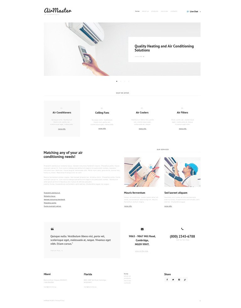 Air Conditioning Responsive Website Template New Screenshots BIG