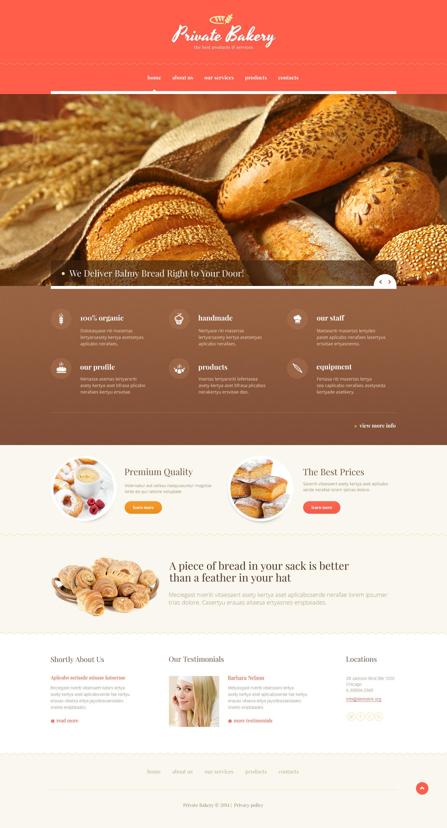 Joomla Template Restaurant Website Design