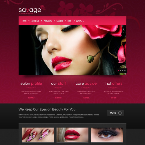 Savage - HTML5 Drupal Template