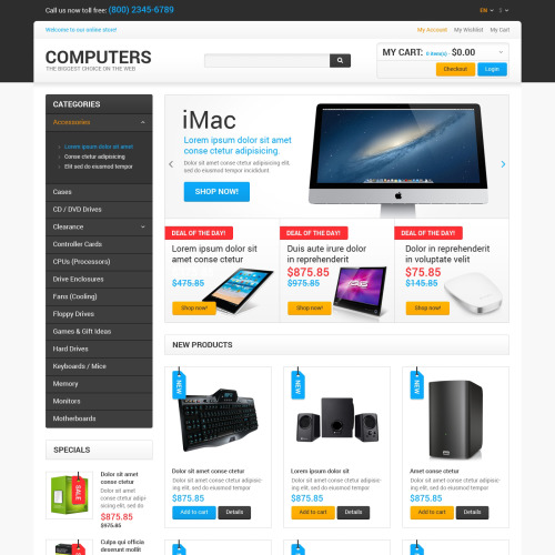 Computers - Responsive Magento Template